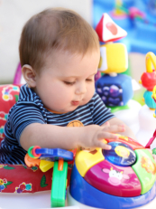 Infant playing toys